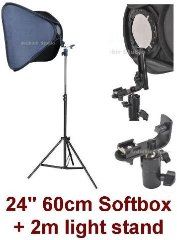 1D Mark II 1000D 7D XS T1i 50D 550D XT T2i 40D Xti 400D 350D 1Ds 10D IV Studio Portable Hot Shoe Flash Softbox Stand Kit for Canon EOS 450D 5D Mark II III Xsi 500D 20D