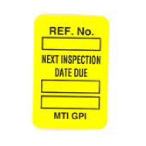 Brady MIC-MTIUSA Y, 104164 Microtag Date Inspected Insert, Pack of 100 pcs by Brady