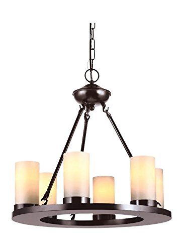 (Sea Gull Lighting 31586EN3-710 Six Light Chandelier Burnt Sienna)