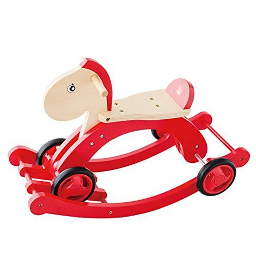 YULAN Children's Dual-Purpose Trojan Shake Horse Baby Toy Toddler Pedal Car Shake Baby One-Year Birthday Gift