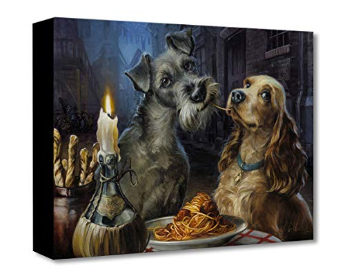 Disney Fine Art Bella Notte by Heather Theurer Treasures on Canvas Lady and The Tramp 12 Inches x 16 Inches Reproduction Gallery Wrapped Canvas Wall Art ()