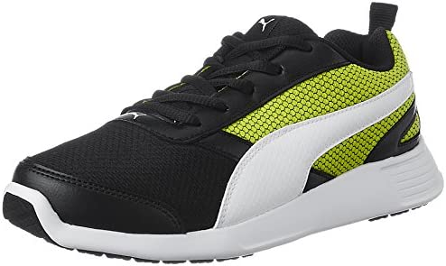 fcea66b5762 Puma Men s Fettle Mesh Black-Limepunch Running Shoes - 10 UK India (44.5
