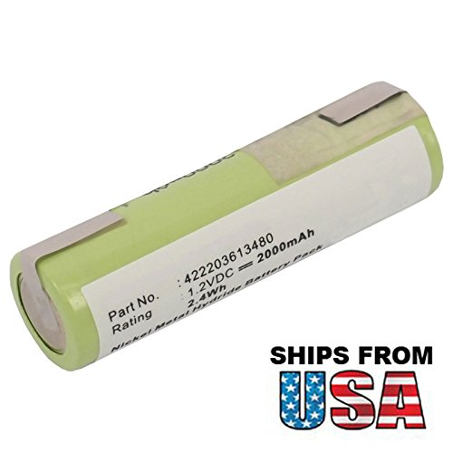 Price comparison product image Exell Razor Battery Fits Philips Wahl Grundig Norelco, Electric Shaver Grundig G7585, Grundig G8234, Grundig G8235, Grundig G8261, Grundig G8264, Grundig G8265, Grundig G8267, Grundig G9000