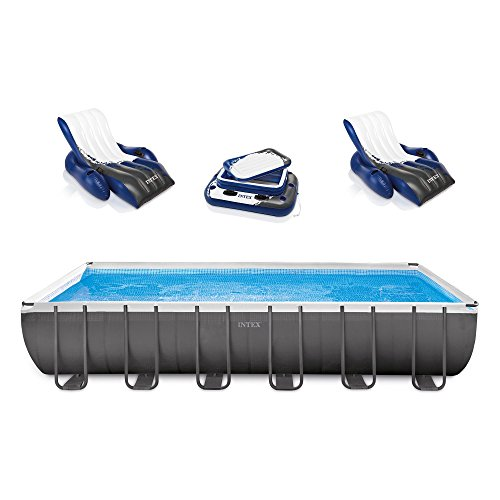 Intex Rectangular Ultra Frame Pool Set, 24-Feet by 12-Feet by 52-Inch (Easy Set Pool Liner)
