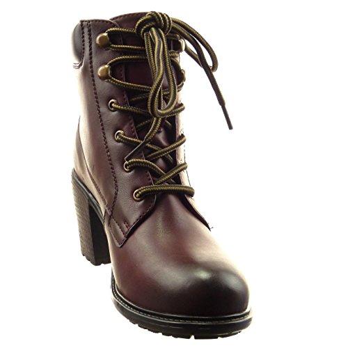Sopily Chaussure Surpiqûres Bloc Boots Finition Coutures Bottine rwHqOr