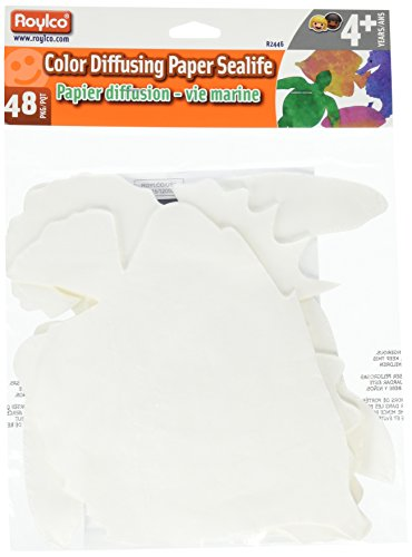Color Diffusing Paper - Roylco Color Diffusing Sealife Shapes