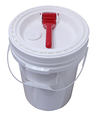 Air Sea Containers 5 Gallon HDPE UN Certified Pail with Twist Off Lid and Grip Handle for easy twist. - White