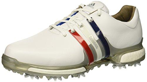 adidas Men's Tour360 2.0 Golf Shoe, FTWR White/Scarlet/Night Sky, 9 M US