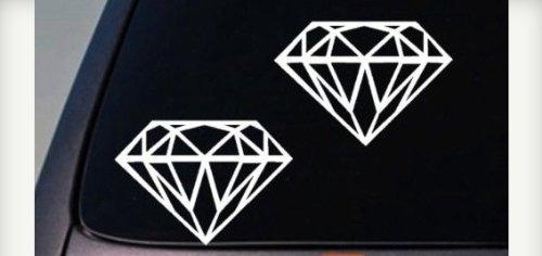 2 Diamond Vinyl Decals Car Sticker Truck SUV Boat pink 6