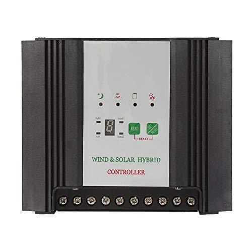 Solarladeregler Wind Solar Hybrid Charge Controller 24V PWM Solarladeregler Wind Laderegler Solarpanelsystem mit LED Anzeige Straßenlaternen Laderegler(600 W Wind + 200 W Solar)