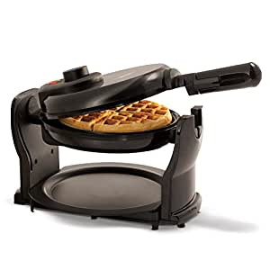 BELLA Rotating Belgian Waffle Maker, Pro Black