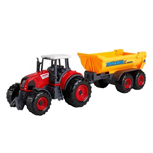 Farm Car Model, LtrottedJ Engineering Tractor Tank Trailer Education Puzzle Vehicle Toy Farm Car Model (A) ()