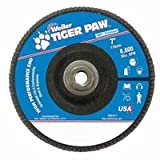 Weiler 51169 Tiger Paw XHD Super High Density Abrasive Flap Disc, Type 27 Flat Style, Phenolic Backing, Zirconia Alumina, 7'' Diameter, 5/8''-11 Arbor, 60 Grit, 8600 RPM (Pack of 10)