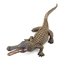 Zooawa Wildlife Nile Crocodile Figure Model Toy - Tawny