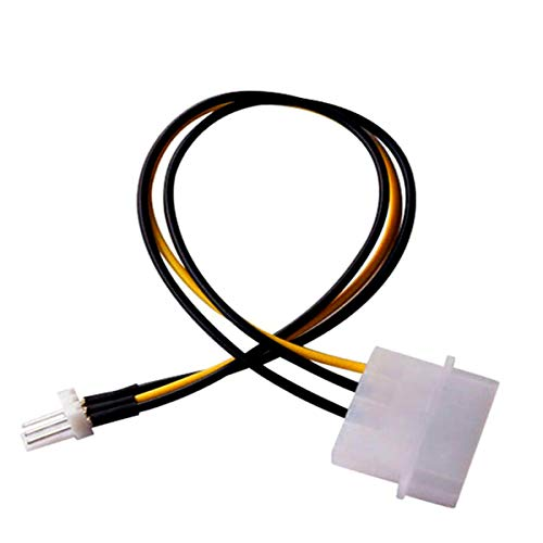 2 Pack 3-Pin ATX Fan to 4-Pin Molex Connector Cable Fan Power Adapter, 4-pin Molex/IDE to 3 Pin CPU Fan Power Cable