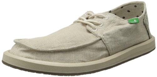 Sanuk Men's Drewby Boat Shoe, Natural, 13 M US