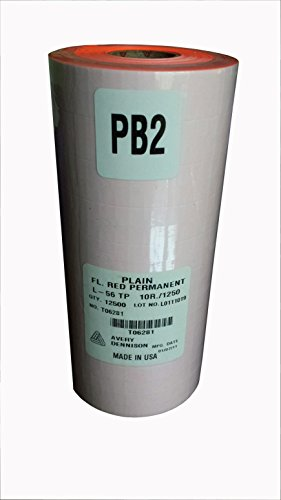 Sato PB-2 Fl. Red Labels for PB-216 (12500/sleeve)