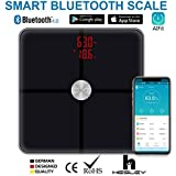 HESLEY FDA Approved Body Composition Analyzer Smart Bluetooth BMI Scale with 18 Essential Measurements and ITO Conductive Glass and App AiFIT
