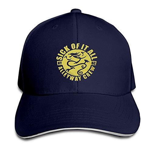 Sick Of It All Dragon - Pzenwts Sick of It All Dragon Fashion Cool Soft Baseball Cap Funny Casual Sun Hat Navy