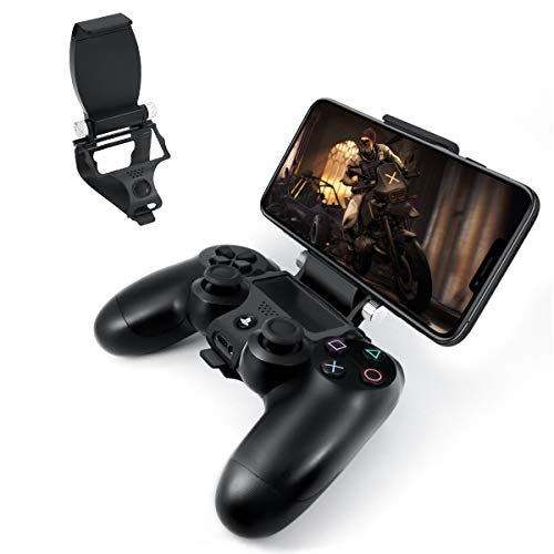DLseego PS4 Controller Phone Clip Holder Clamp Mount Bracket Foldable and Durable for Sony Playstation 4 PS4 Dual Shock Wireless Controller [Playstation 4]