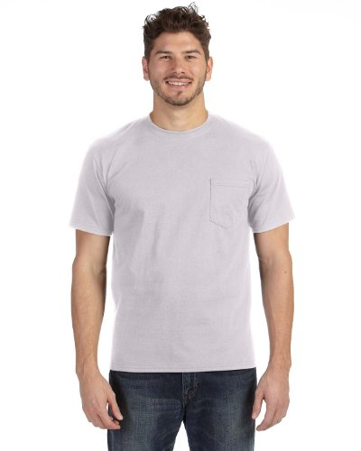Anvil Mens Heavyweight Ringspun Pocket T-Shirt (783AN) -ASH (Anvil Heavyweight T-shirt)