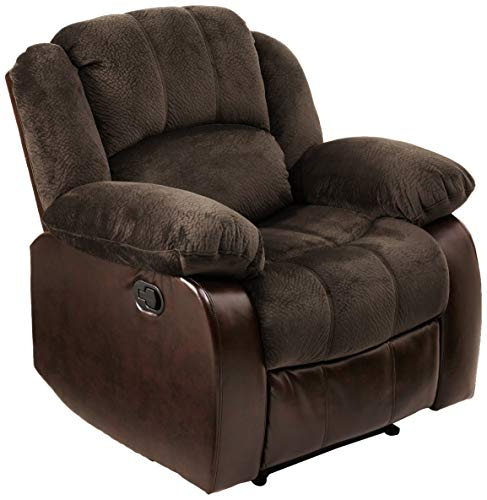NHI Express 71004-91 Aiden Champion & PU Recliner, - Plush Recliner Chair
