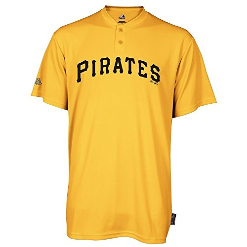 Majestic Piitsburgh Pirates Cooperstown 2 Button Cool Base Throwback Replica Baseball Jersey 3XL