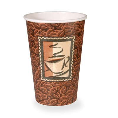 Polycoated Paper Cup, Hot, 16 oz., Java Design, Brown (1000 Per Order) by Dixie