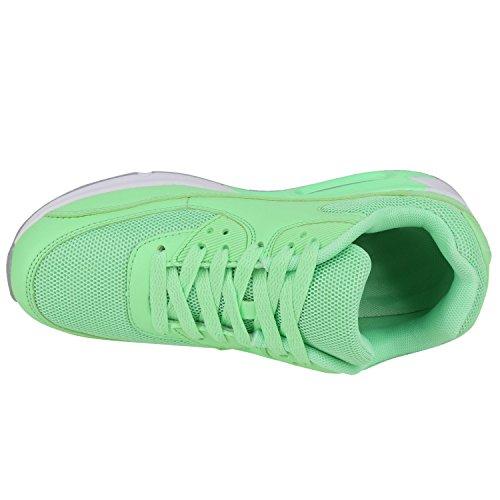 Eyecatcher Look Neongrün Sportschuhe Sportlicher Herren Unisex Tragekomfort Knallige Angenehmer Alltags Auffällige 45 Japado 36 Damen Neon Sneakers Gr xPnFTq