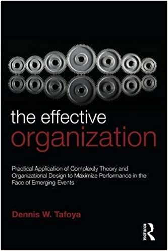 Book The Effective Organization: Practical Application of Complexity Theory and Organizational Design to Maximize Performance in the Face of Emerging Events.