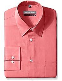 Men's Regular Fit Textured Stripe Sateen Shirt