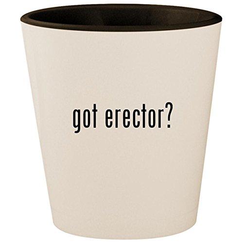 got erector? - White Outer & Black Inner Ceramic 1.5oz Shot Glass ()