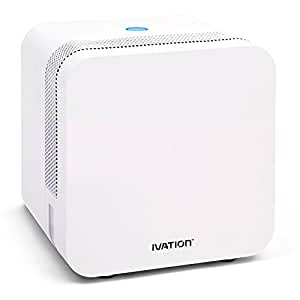 Ivation ERSDM18 Mini Dehumidifier with Both Peltier and Exclusive Ers Technologies for Power Efficiency and Better Moisture Removal