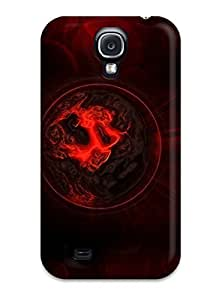 For Galaxy Case, High Quality Abstract Red For Galaxy S4 Cover Cases