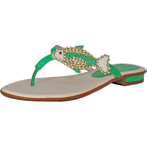 Bruno Menegatti 1650 Womens Leather Sandal Turquoise