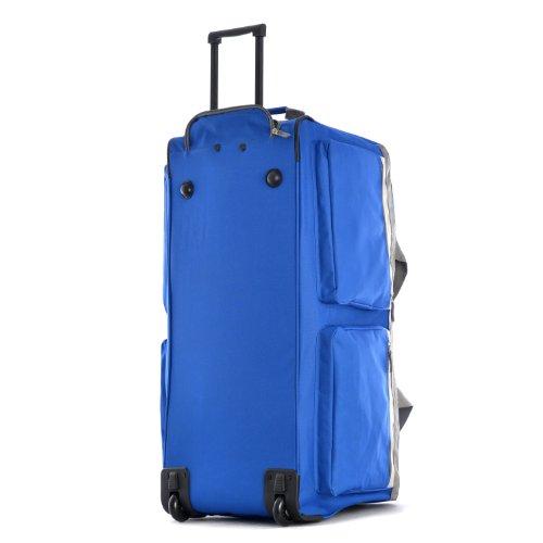 41JY0HbJ%2BDL - Olympia 8 Pocket Rolling Duffel Bag, Royal Blue