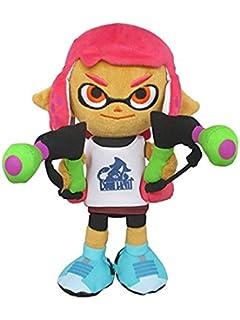 "Splatoon 2 Plush 14/"" Neon Green Splatoon Squid Cushion REAL Little Buddy 1663"