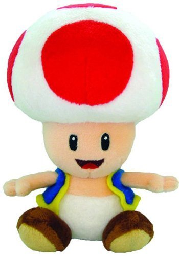 Nintendo Official Super Mario Toad Plush, 8'' by Nintendo
