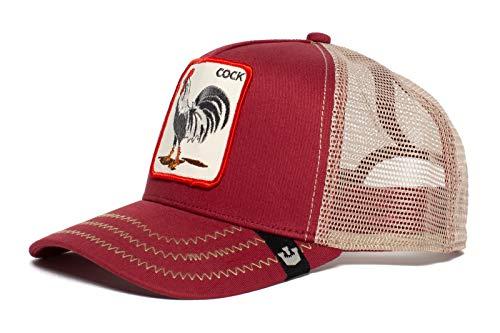 (Goorin Bros. Animal Farm 'Rooster' Rooster Trucker Snapback Baseball Hat Red)