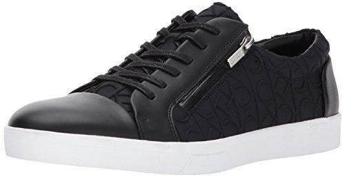 Calvin Klein Men's Ibrahim Brshd Lthr Fashion Sneaker, Black, 10 M US by Calvin Klein
