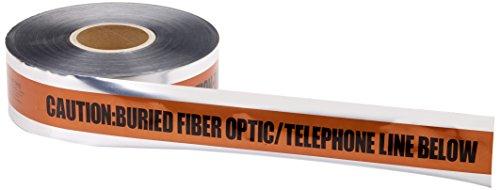 - Mutual 17774 Polyethylene Underground Tele/Fiberoptic Detectable Marking Tape, 1000' Length x 2