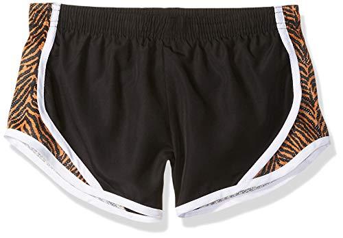 Soffe Girls' Big Team Shorty Short, Tiger Extra Large