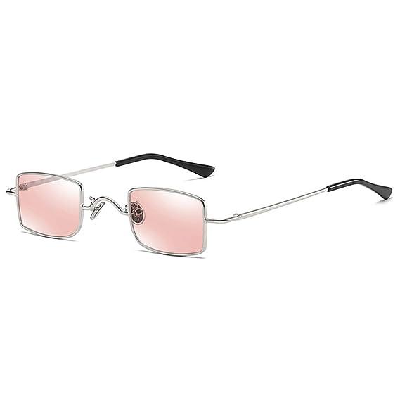 TYJYTM Gafas De Sol Rectangulares De Color Dorado, Delgadas ...