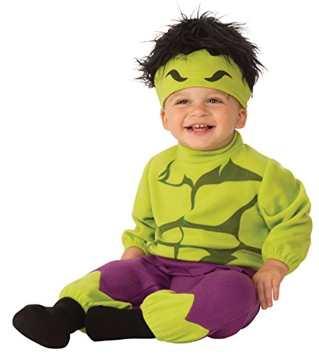 Rubie's Costume Co. Baby Marvel Captain America Onesie, As/Shown, (Baby Hulk Infant/toddler Costume)