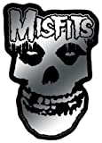 Licenses Products Misfits Logo and Skull Sticker, Chrome