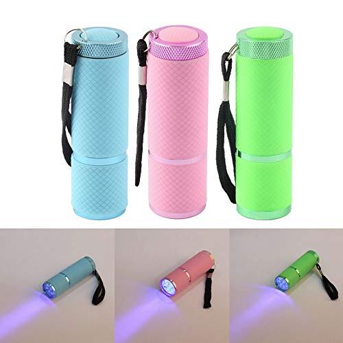 White, China : Mini LED Flashlight Lamp Nail Dryer Portable 15s Fast Dry Nail Polish Lamp Aluminum Alloy AAA Battery 9 LED hot search ()
