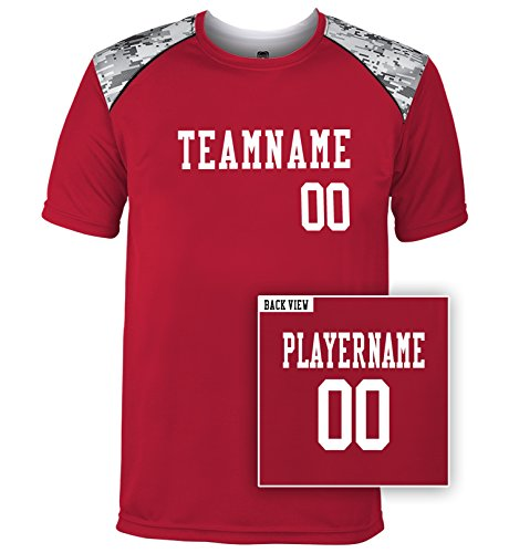 (Men's Custom Multi-Sport Tech Tee, Personalize with YOUR Names & Numbers-M)