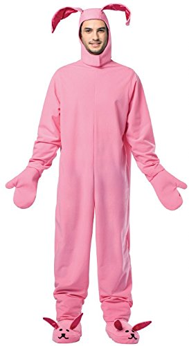 Bunny Costume For Men (Rasta Imposta Men's Christmas Bunny, Pink, One)