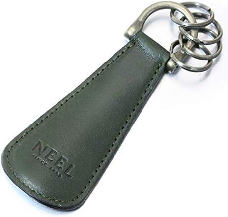 NEEL オリジナル 靴べら 携帯 シューホーン キーホルダー イタリアンレザー グリーン