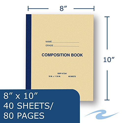 Roaring Spring Paper Products Center Sewn Composition Notebook, 10 x 8 x 1/4 (77341cs) by Roaring Spring (Image #2)